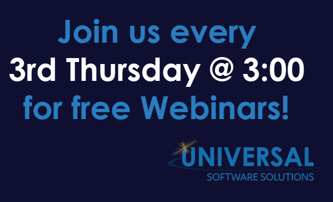 January's Free Webinar: EDI Overview - Business Workflow Software - Universal Software Solutions - 3rd_thurs_at_3