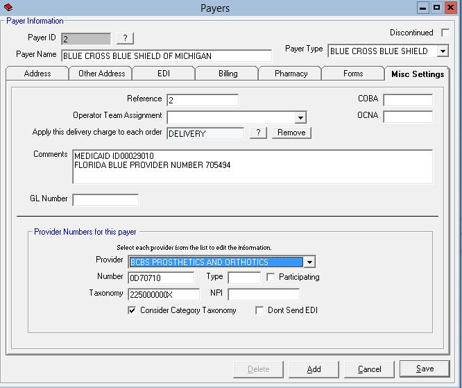 Billing CUSTOM P&O to BCBSM? - Default Landing Page
